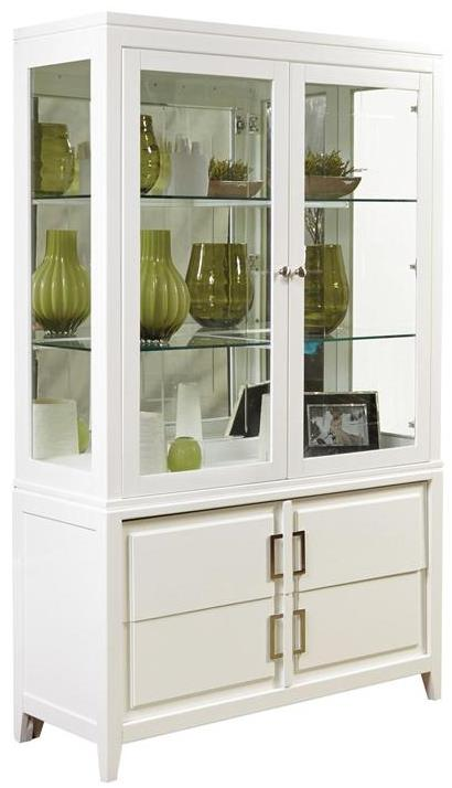 Samuel Lawrence Brighton China Cabinet - Item Number: 8673-141+142