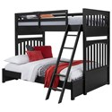 Samuel Lawrence Bunk Beds2 Twin-Over-Full Bunk Bed - Item Number: S302-730+1+3+BRKT-46EXT