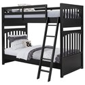 Samuel Lawrence Bunk Beds2 Twin-Over-Twin Bunk Bed - Item Number: S302-730+1
