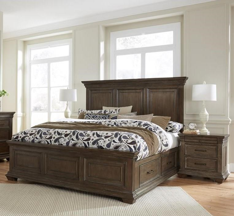 Samuel Lawrence Camden King Storage Bed & 2 Nightstands - Item Number: GRP-S174-KINGSUITE3