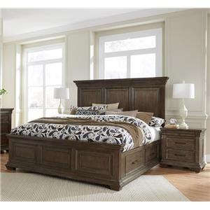 Samuel Lawrence Camden King Storage Bed & 2 Nightstands