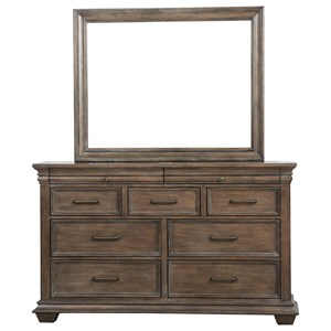 Samuel Lawrence Camden Dresser and Mirror Combo