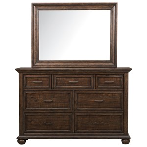 Samuel Lawrence Chatham Park Dresser and Mirror Combo