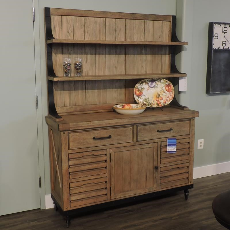 Draft House Cabinet + Hutch