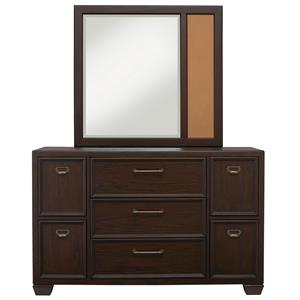 Samuel Lawrence Clubhouse Dresser and Mirror Set