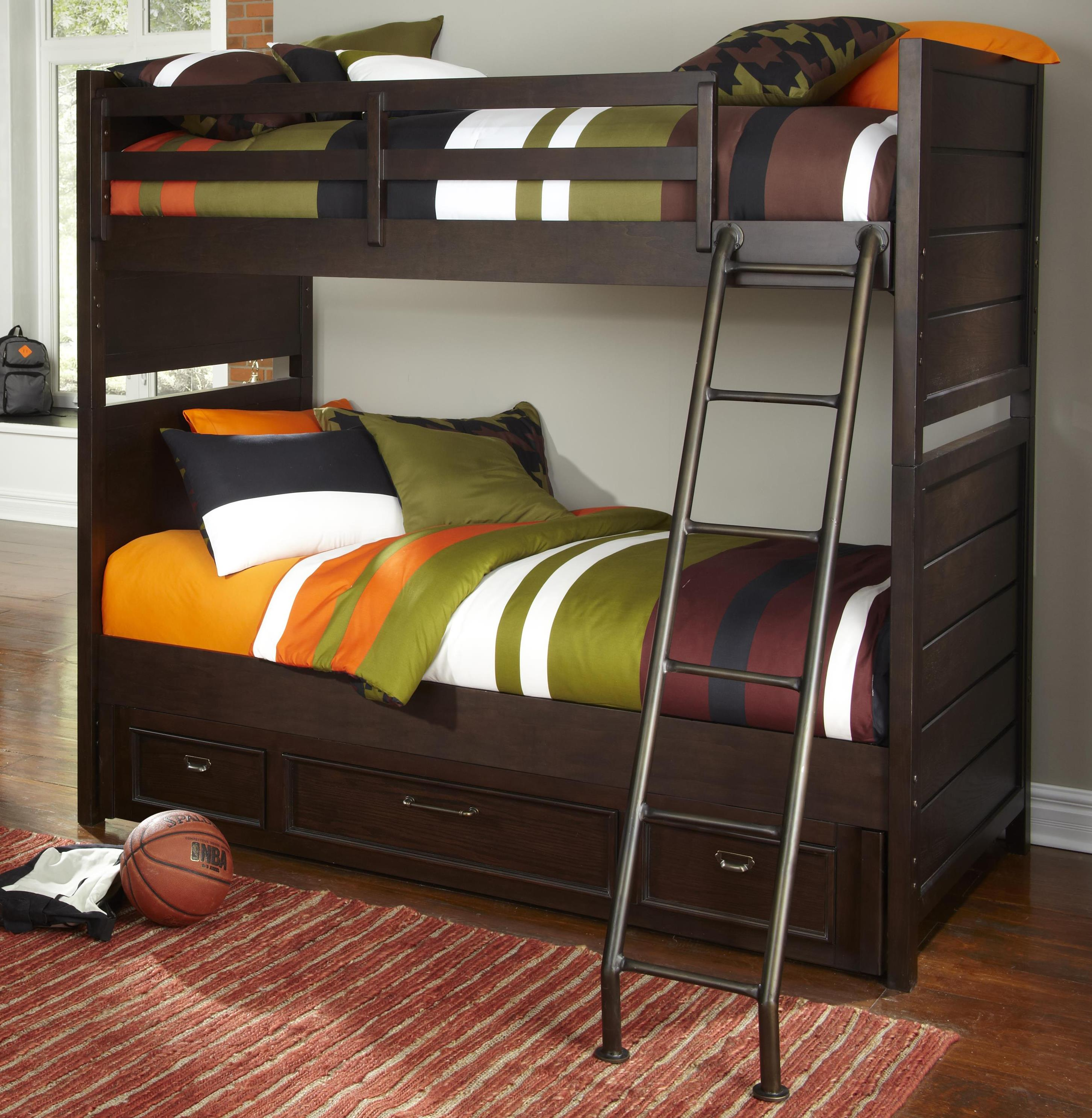 Kidz Gear Mason Twin over Twin Storage Bunk Bed - Item Number: 8872-643+730+731+732