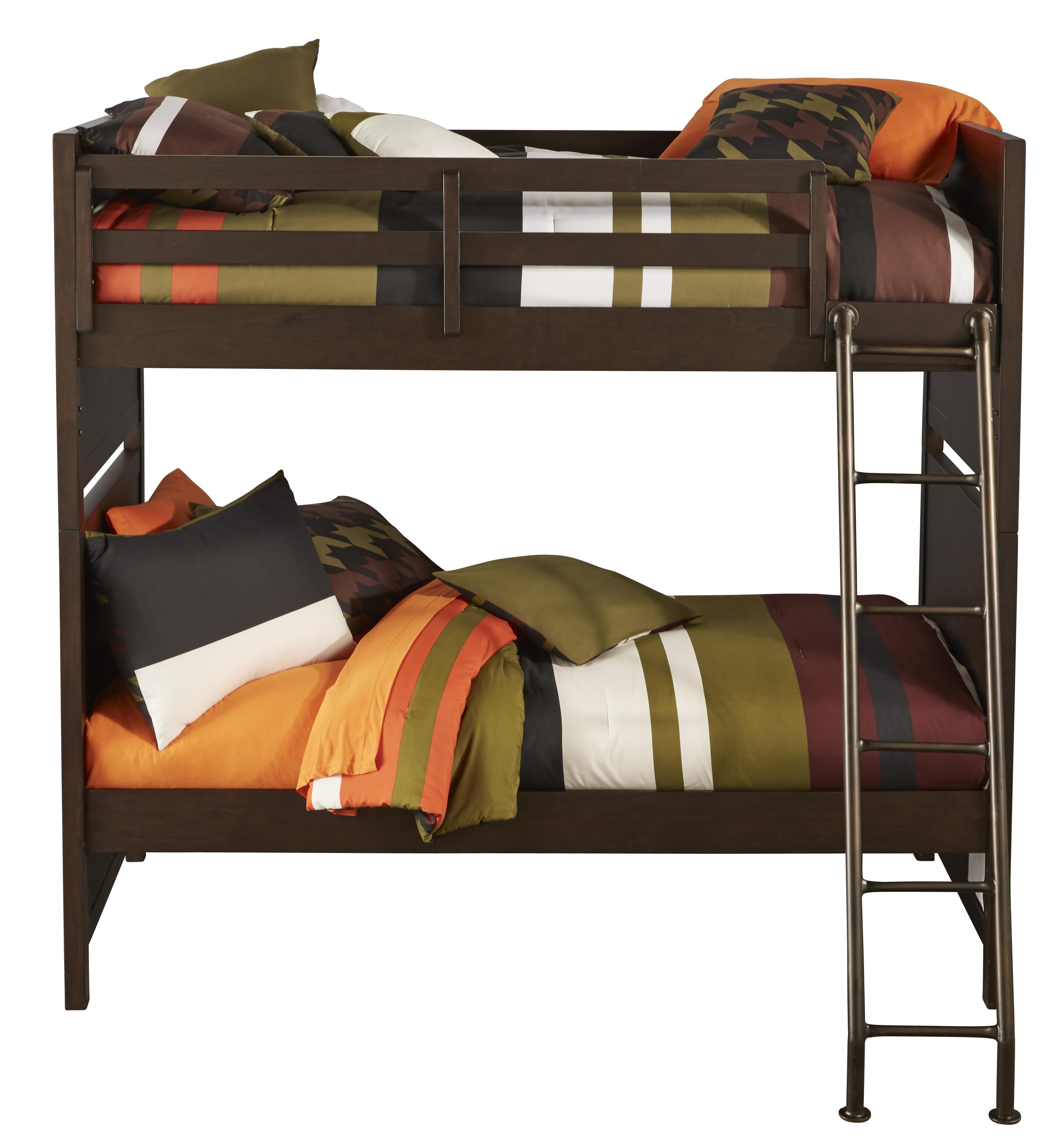 Kidz Gear Mason Twin over Twin Bunk Bed - Item Number: 8872-730+731+732
