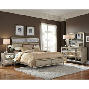 samuel lawrence cut glass queen bedroom group - Samuel Lawrence Furniture