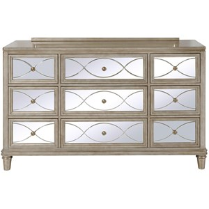 Samuel Lawrence Cut Glass Dresser