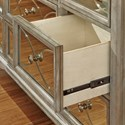 Samuel Lawrence Cut Glass 9 Drawer Dresser with Mirrored Drawer Fronts