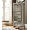 Samuel Lawrence Cut Glass 6 Drawer Lingerie Chest with Swivel Base
