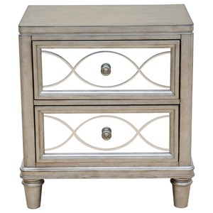 Samuel Lawrence Cut Glass Nightstand
