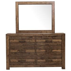 Samuel Lawrence Dakota Dresser and Mirror Combo