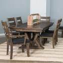 Samuel Lawrence Dakota 7 Piece Table and Chair Set - Item Number: S290-131A+B+2x151+4x150