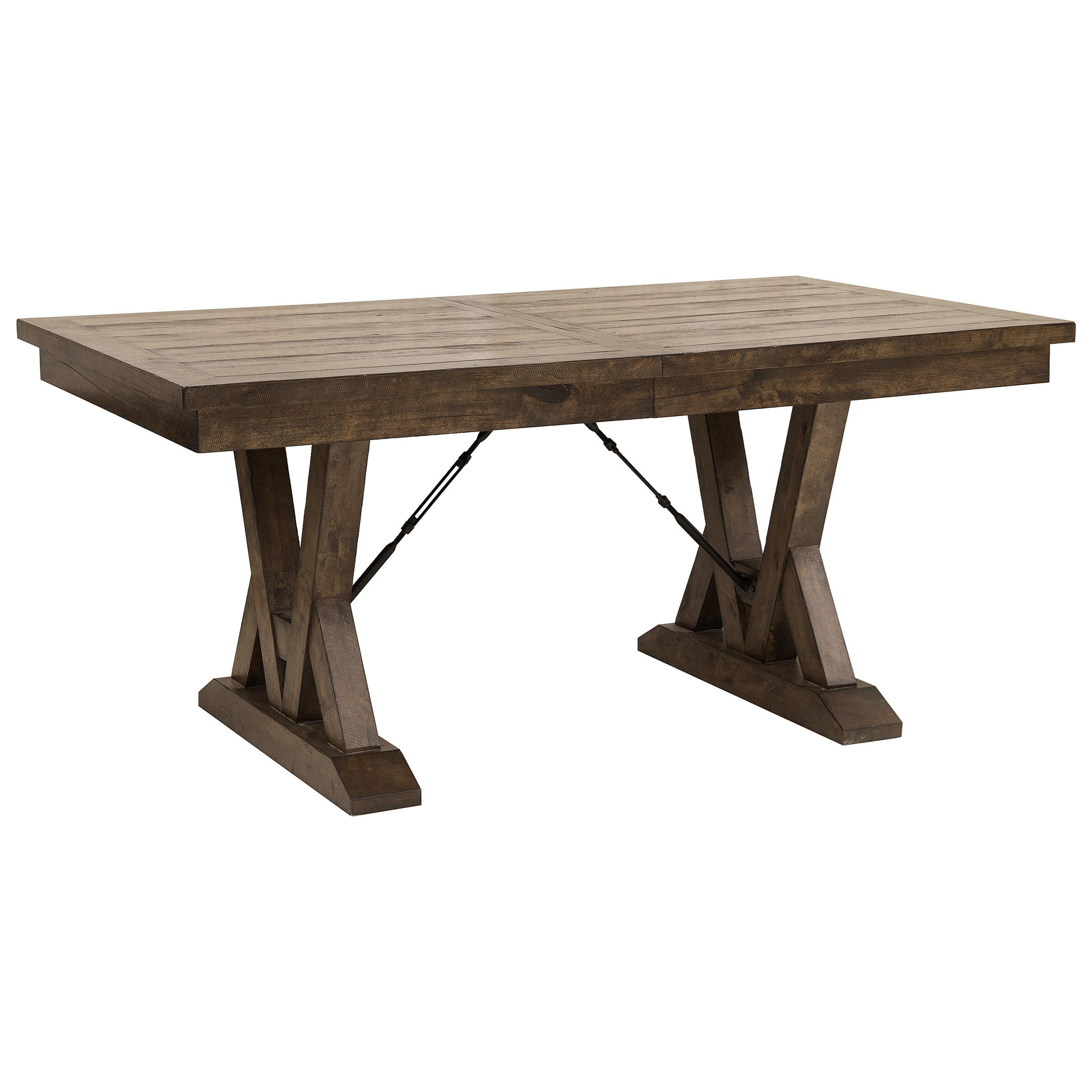 Samuel Lawrence Dakota Rustic Trestle Dining Table With