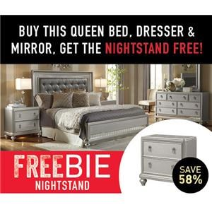 South Beach Queen Bedroom with FREEBIE!