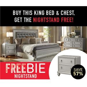 South Beach Bedroom Group with Freebie!