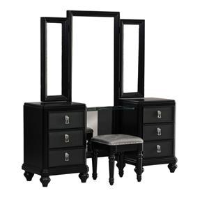 Morris Home Furnishings South Beach South Beach Vanity with Bench and Mirror