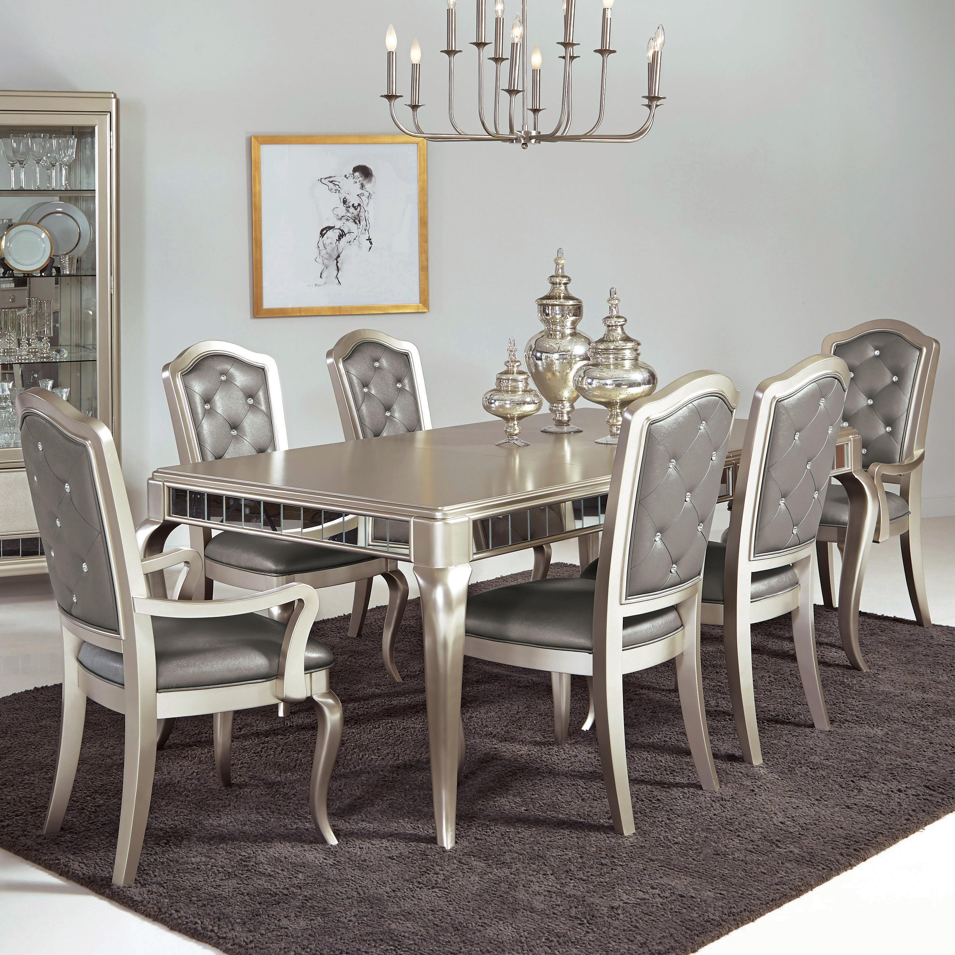 Samuel lawrence diva 7 pc table chair set royal for 2 piece dining room set