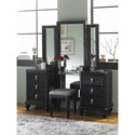 Samuel Lawrence Diva Midnight Vanity Dresser w/ Stool