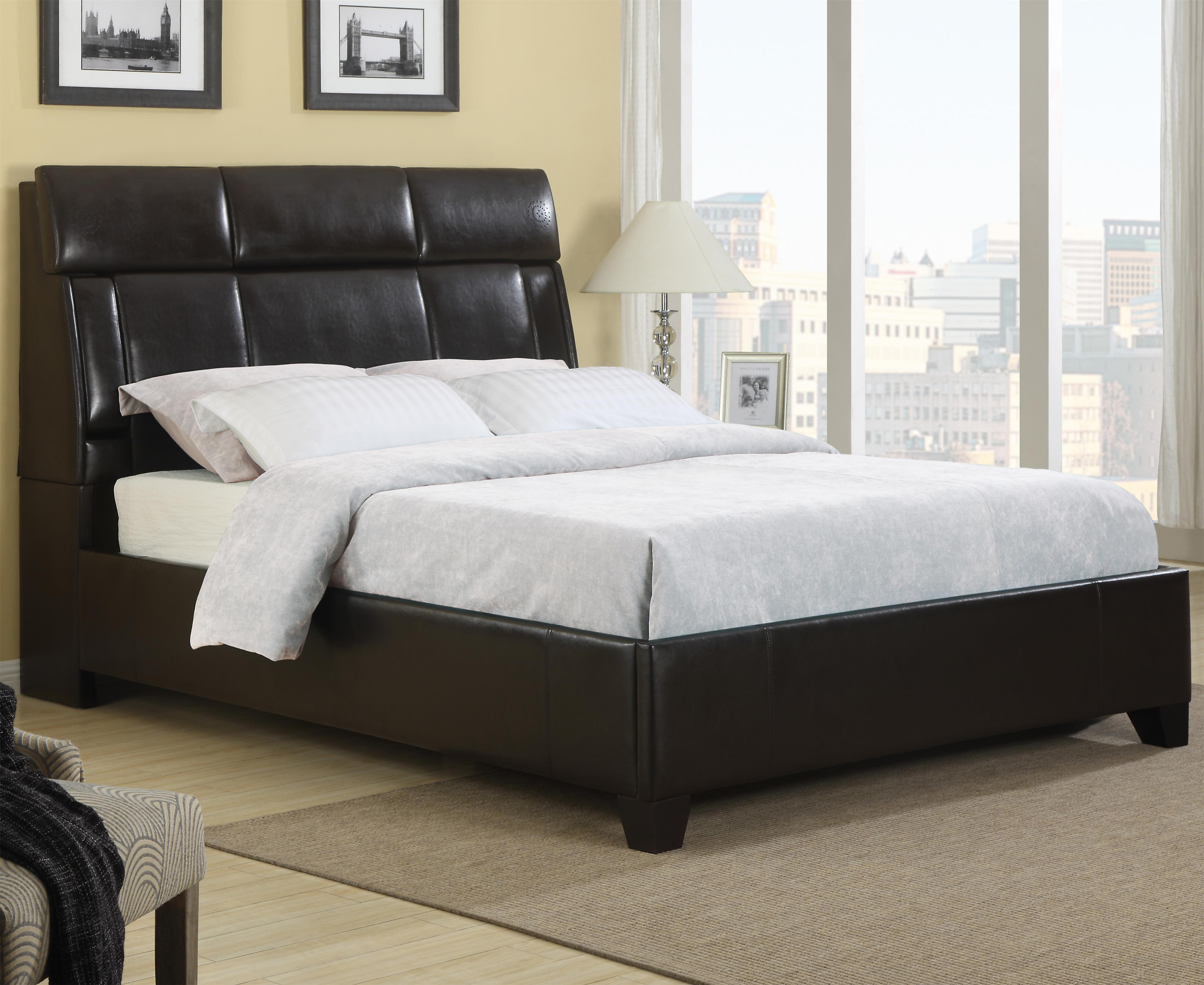 samuel lawrence dreamsurfer deluxe black queen upholstered bed with