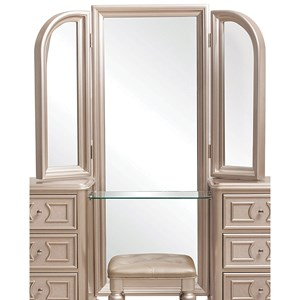 Samuel Lawrence Dynasty Vanity Tri View Mirror