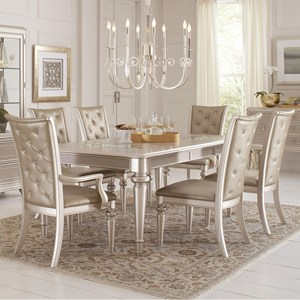 Samuel Lawrence Dynasty 7 Piece Table and Chair Set