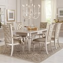 Samuel Lawrence Dynasty 7 Piece Table and Chair Set - Item Number: S044-135+2x155+4x154