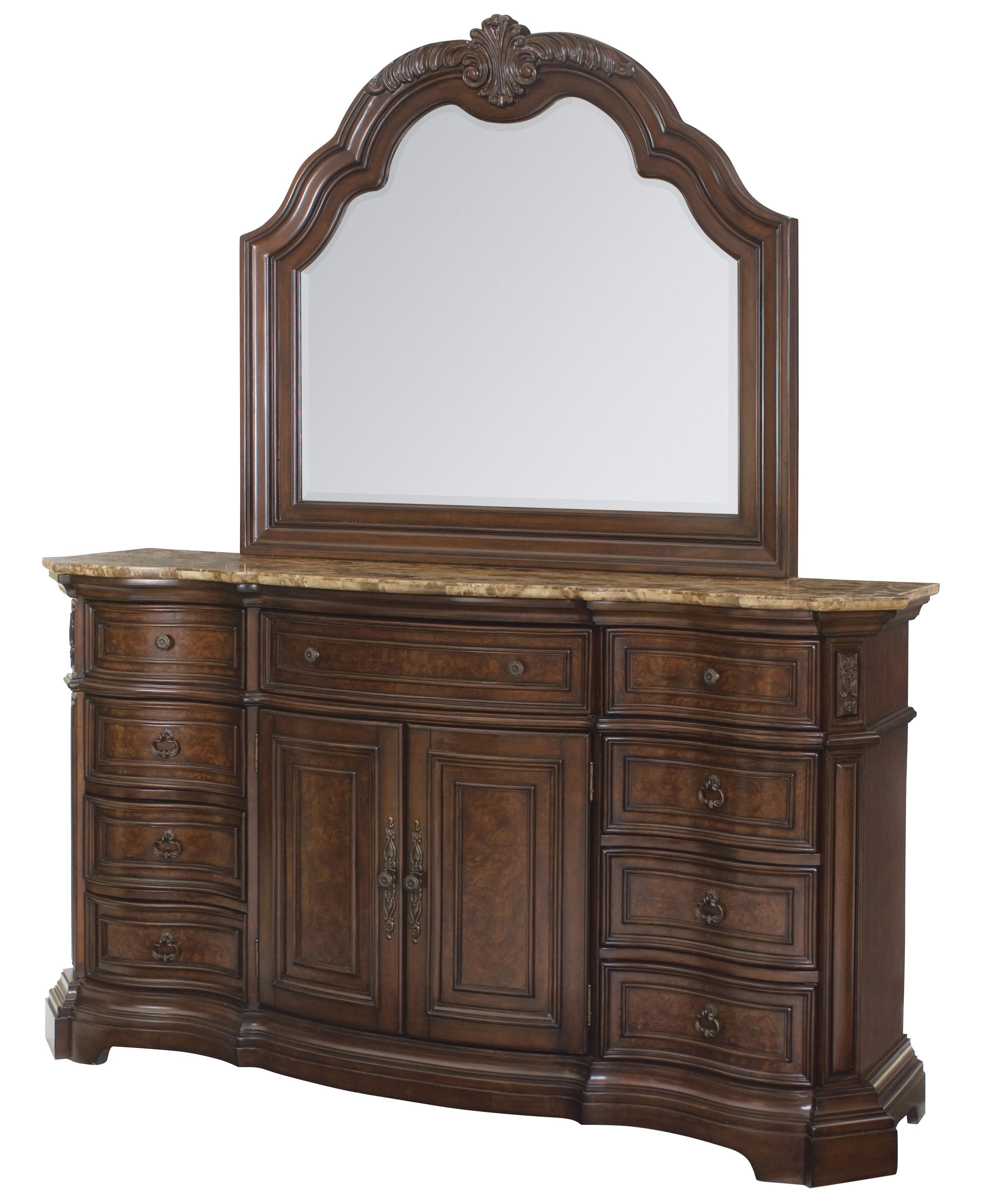 Samuel Lawrence Edington Dresser and Mirror Combo - Item Number: 8328-030+015