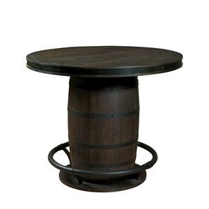 Morris Home Furnishings Eisenberg Whiskey Barrel Table