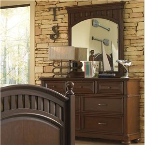Morris Home Furnishings Edgewood Dress & Mirror Set