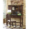 Samuel Lawrence Expedition Youth Desk w/ Hutch & Corkboard - 8468-414+453 - Shown with Chair