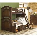 Kidz Gear Griffin Drawer Chest - Shown with Bunk Bed w/ Ladder & Storage