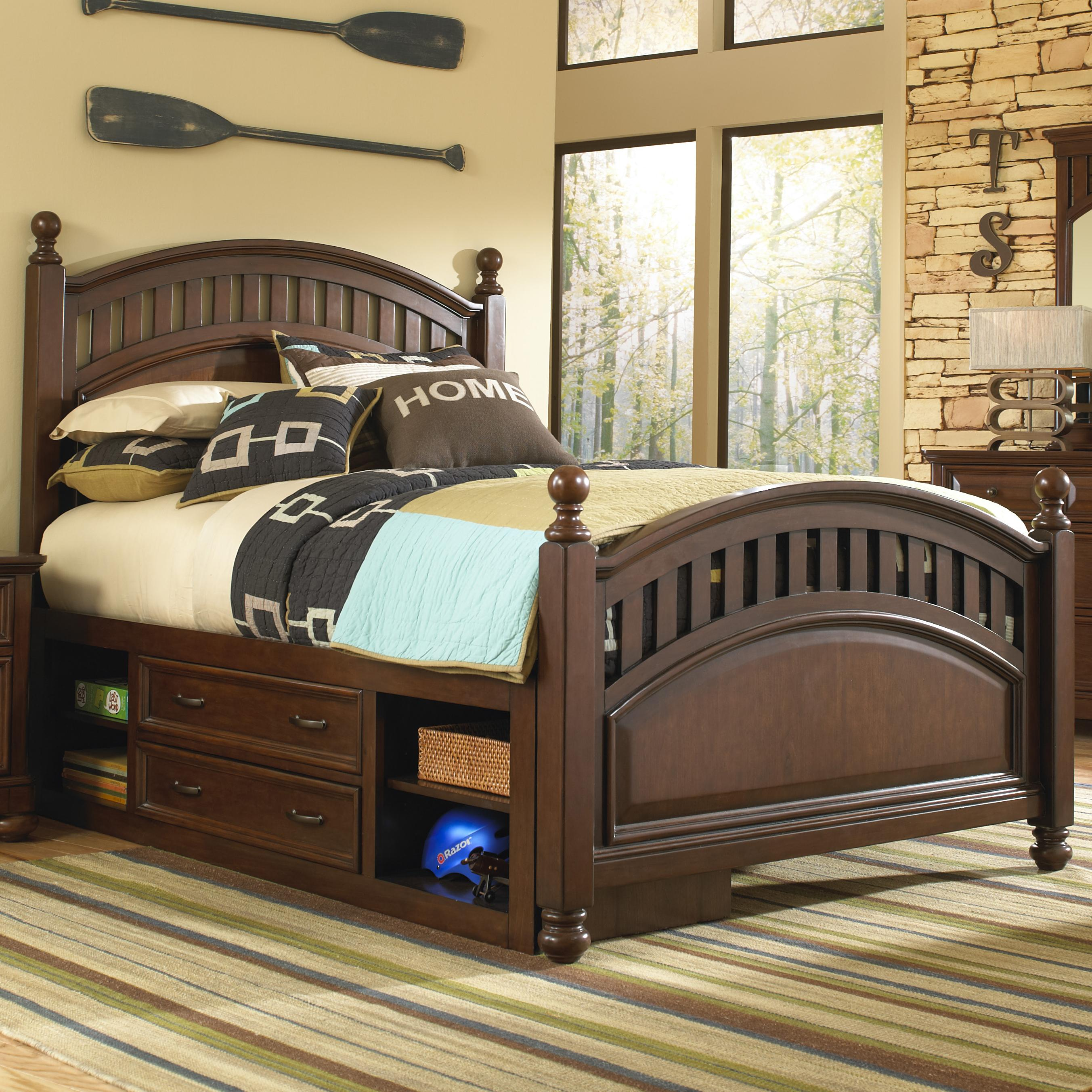 Kidz Gear Griffin Full Low Post Bed  - Item Number: 846-632+633+401+643