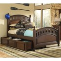 Kidz Gear Griffin Twin Low Post Bed w/ Trundle Storage - Bed Shown May Not Represent Exact Size Indicated