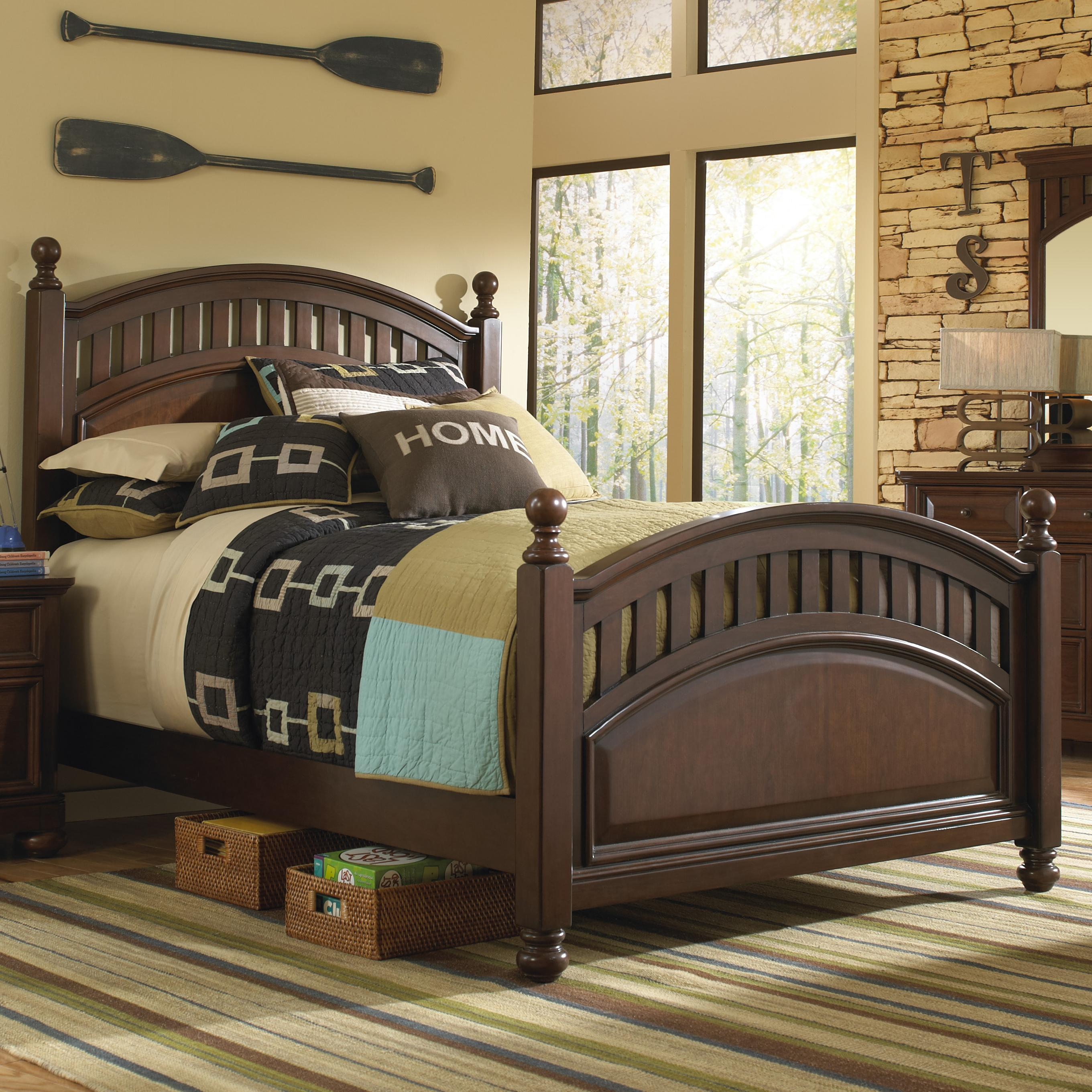 Morris Home Furnishings Edgewood Edgewood Twin Post Bed - Item Number: 8468-630+631+401