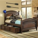 Kidz Gear Griffin Full Low Post Bed w/ Trundle Storage  - Bed Shown May Not Represent Exact Size Indicated