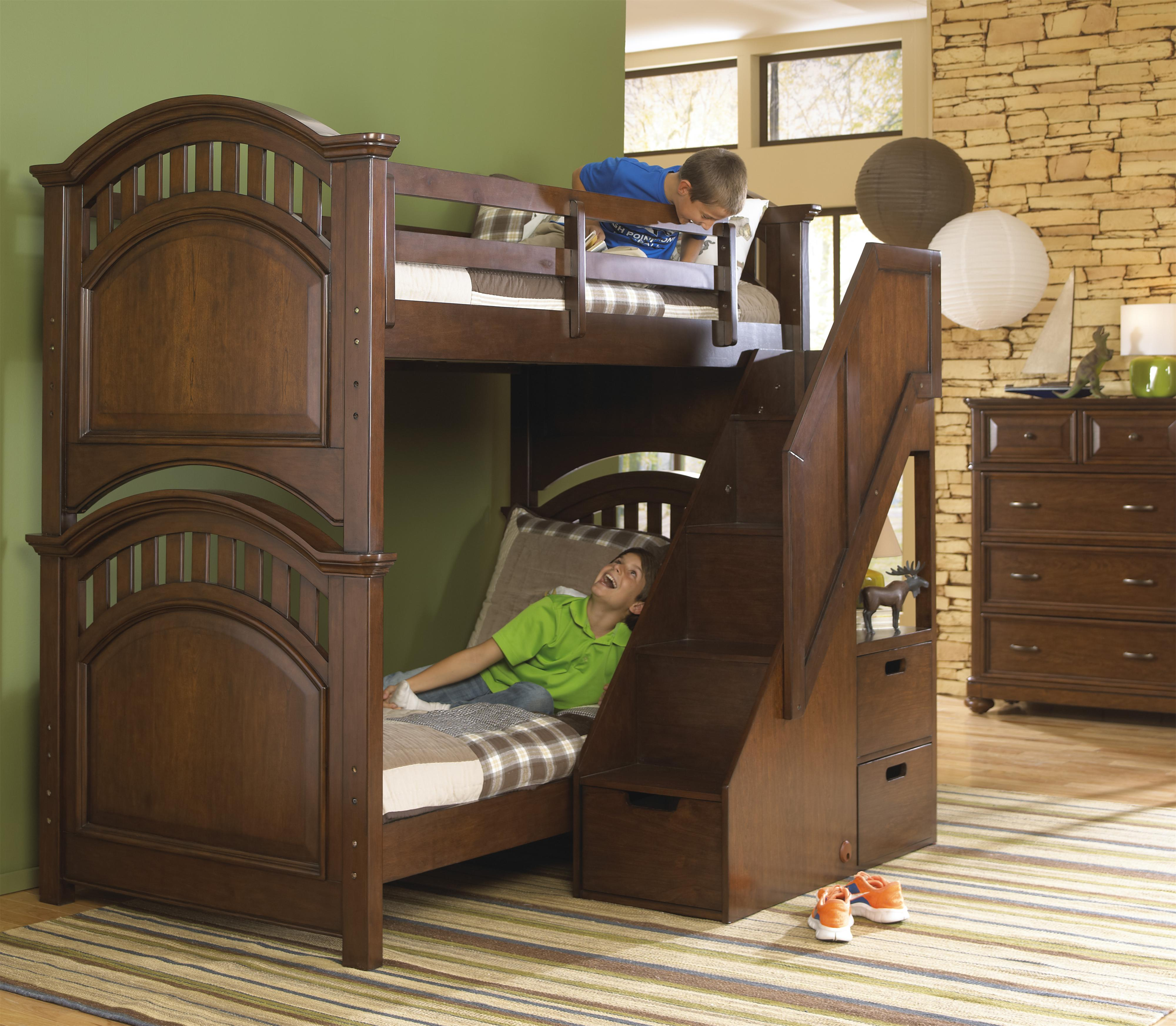 Samuel Lawrence Expedition Youth Twin Bunk Bed W Steps