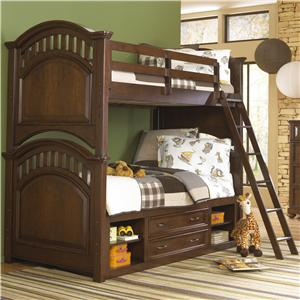 Kidz Gear Griffin Twin Bunk Bed w/ Storage