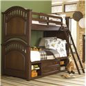 Samuel Lawrence Expedition Youth Twin Bunk Bed w/ Storage - Item Number: 8468-730+732+2xSLATR-33+731+643