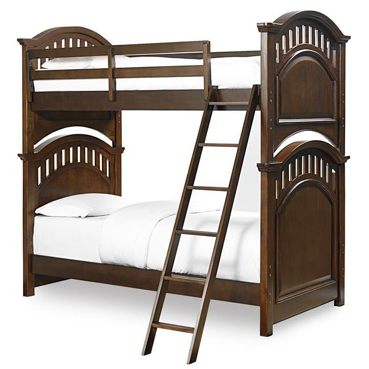 Kidz Gear Griffin Twin Bunk Bed  - Item Number: 8468-730+732+2xSLATR-33+731