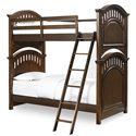 Morris Home Furnishings Edgewood Edgewood Twin Bunkbed with Ladder - Item Number: 8468-730+732+2xSLATR-33+731