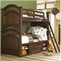 Samuel Lawrence Expedition Youth Twin/Full Bunk Bed w/ Storage - 8468-730+732+Slats+733+643+731