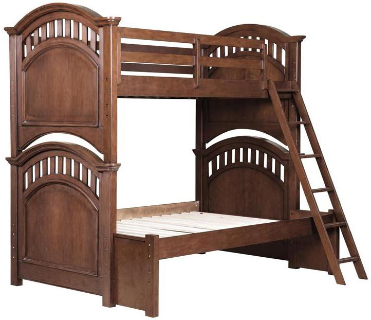 Kidz Gear Griffin Twin Over Full Bunk Bed - Item Number: 8468-730+732+Slats+733+731