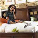 Samuel Lawrence Expedition Youth Full Lounge Bed w/ Bookcase & Storage - 8468-740+742+SLATR46