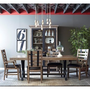 Samuel Lawrence Flatbush 7 Piece Table and Chair Set