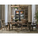 Samuel Lawrence Flatbush 7 Piece Table and Chair Set - Item Number: S084-135+4x156+2x157