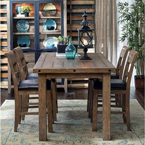 Samuel Lawrence Flatbush 5 Piece Gathering Table and Chair Set