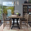 Samuel Lawrence Flatbush 5 Piece Gathering Table and Chair Set - Item Number: S084-136A+B+4x176