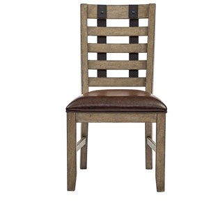 Samuel Lawrence Flatbush Metal Strap Side Chair